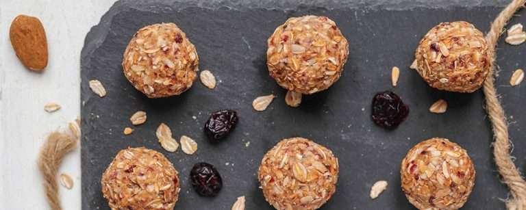 No-Bake Almond and Cranberry Energy Balls
